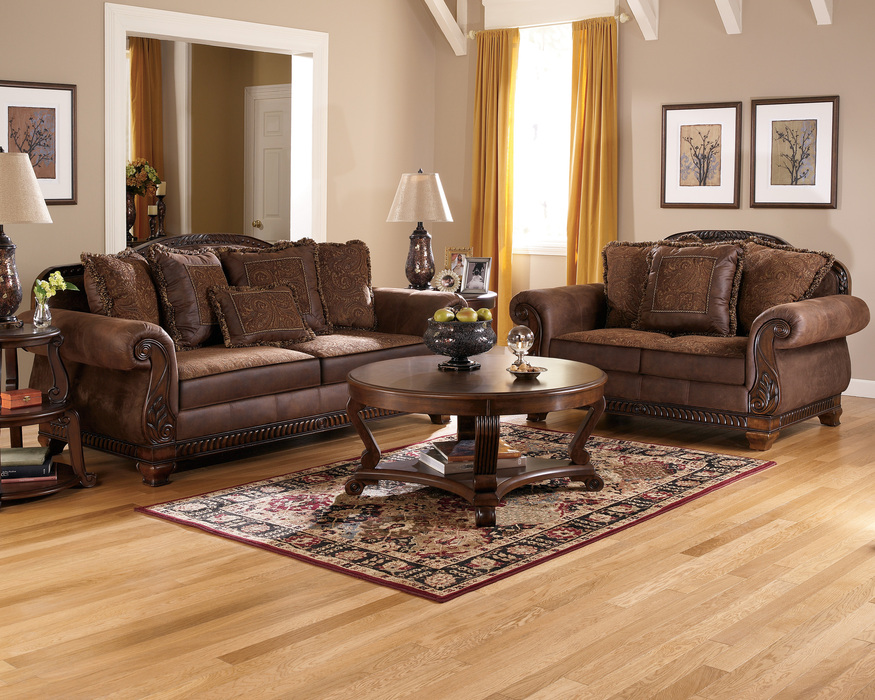 loveseat and sofa bradington truffle sofa, loveseat and accent chair set ISDXETZ