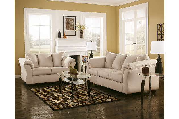 loveseat and sofa ... darcy sofa and loveseat, stone, large ... WWWEFEQ