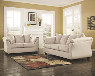 loveseat and sofa darcy sofa and loveseat, stone, ... REXXJOQ