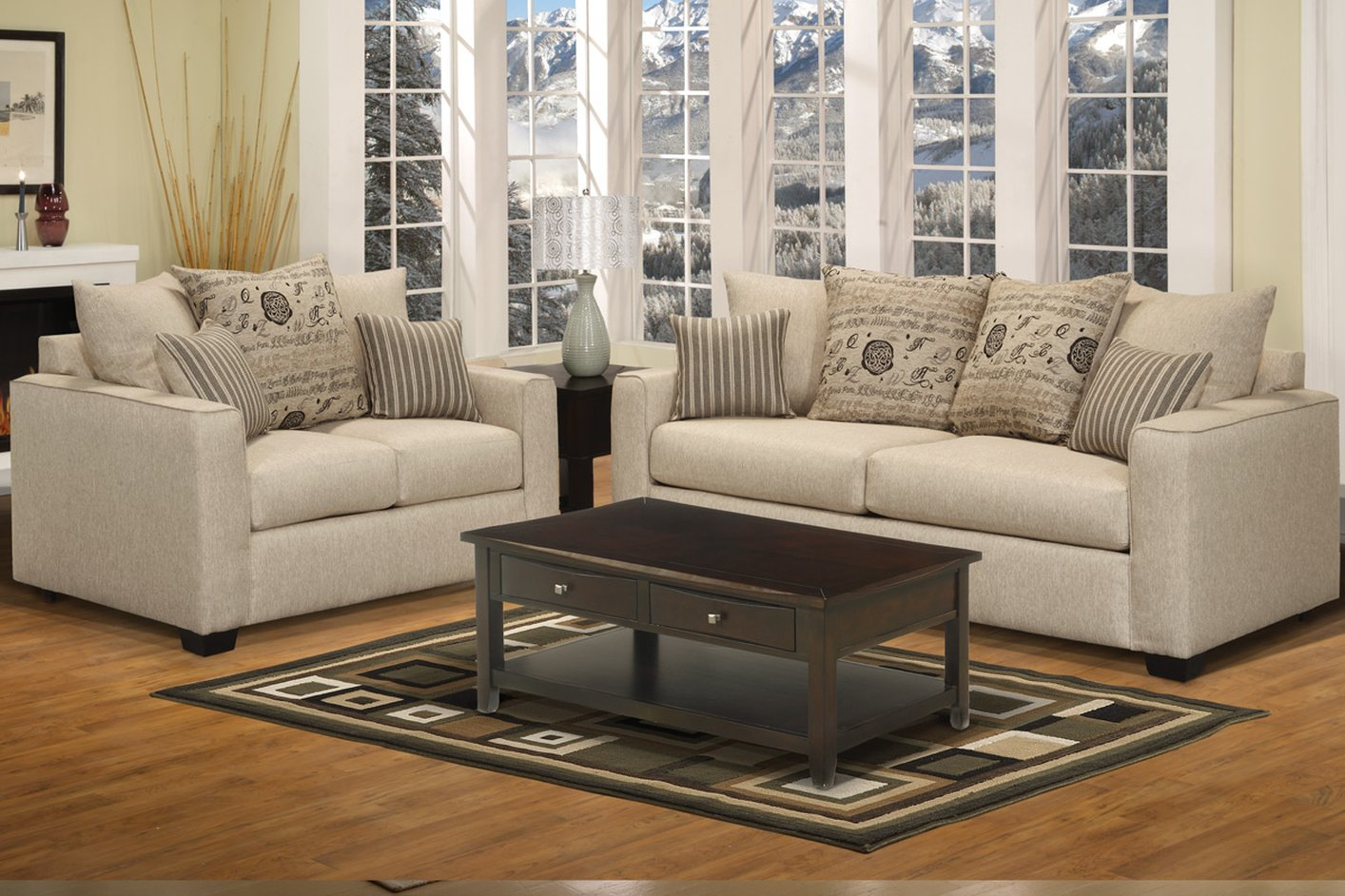 Online purchase of the loveseat and sofa