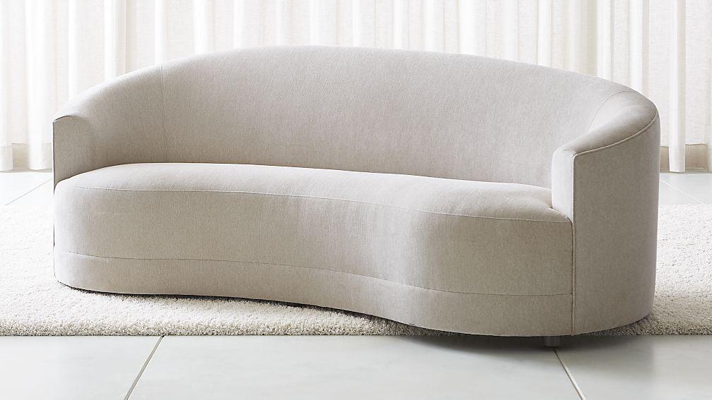 loveseat sofa infiniti curve back sofa + reviews | crate and barrel WJNGFVP