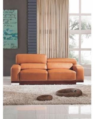 luca home contemporary honey italian leather sofa (luca home grey italian  leather DCEHTCQ