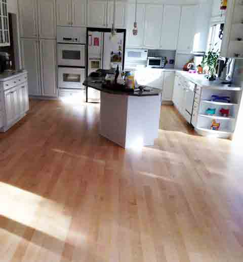 maple floors refinished maple hardwood floors throughout kitchen u0026 family rooms VUHWDLR
