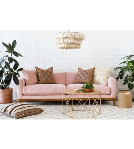 maxwell velvet sofa, pink UKLDGPV
