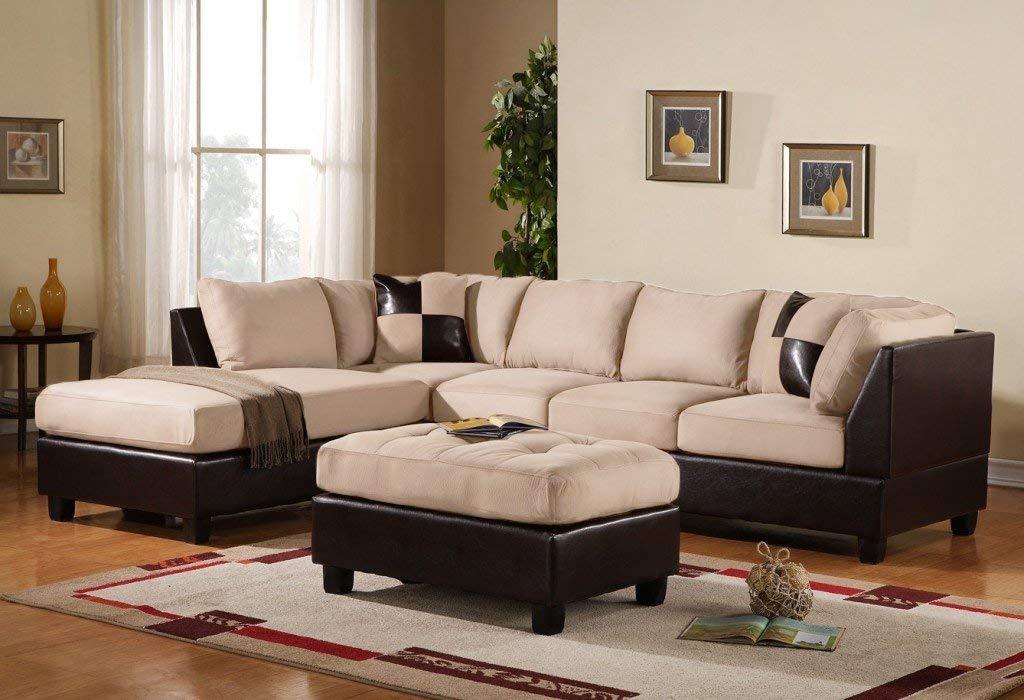 A microfiber sectional sofa is a beautiful sofa for living room decor