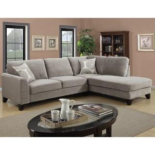 microfiber sectional sofa porter reese dove grey sectional sofa with optional ottoman TXDAEKX