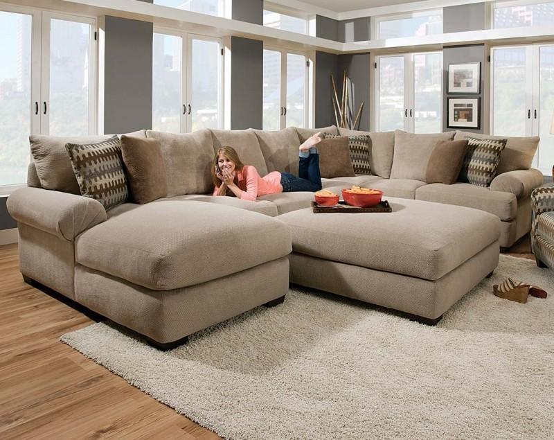 microfiber sectional sofa with ottoman DWERSSL