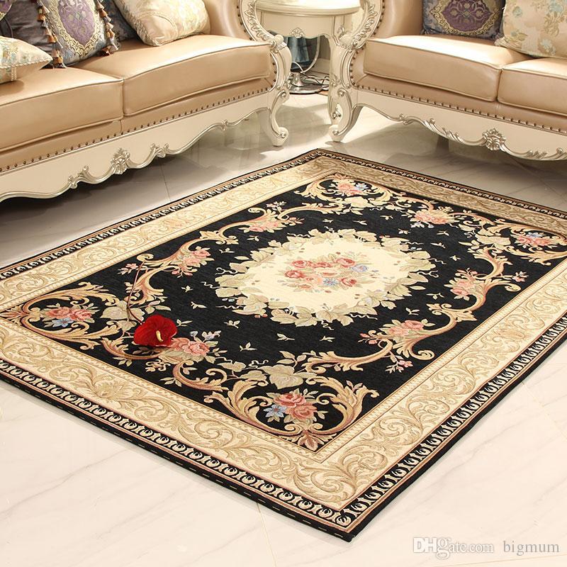Modern carpets absorbent non slip modern carpet for living room/bedroom machine washable  luxury jacquard BCDFVAE