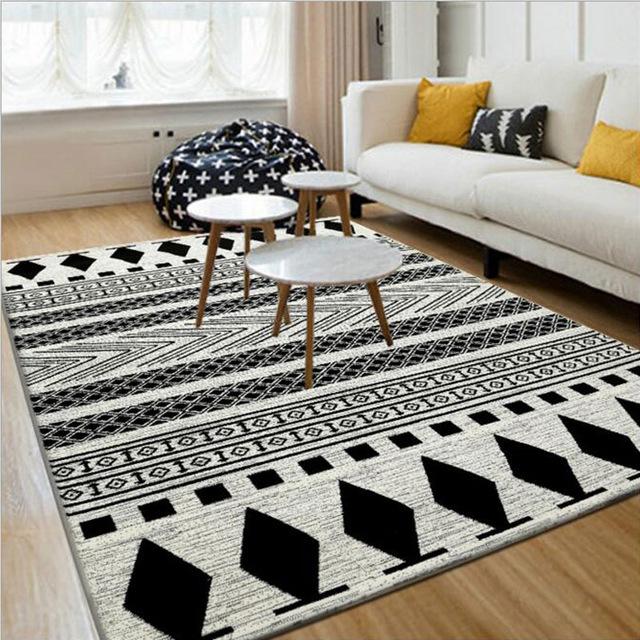 Modern carpets black white 130x190cm european modern carpet and floor rugs and carpets  modern UHHNSRO