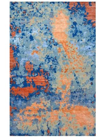 Modern carpets orange spray handmade modern carpet ... RIKBFFX