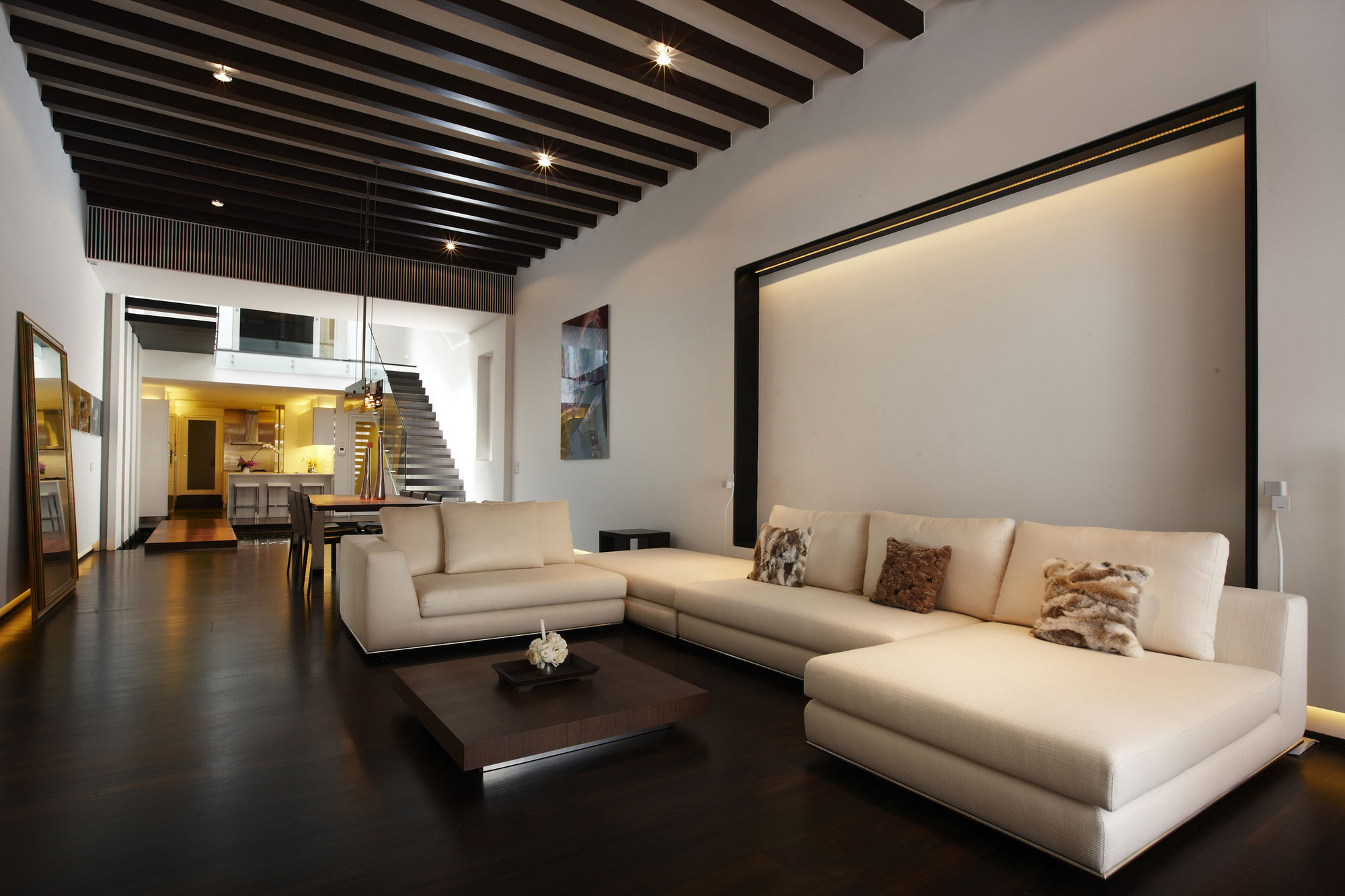 modern dark wood floors elegant room with dark wood flooring CHHFHCY
