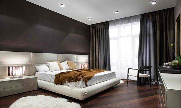 modern dark wood floors flat in kiev LCAHSNF