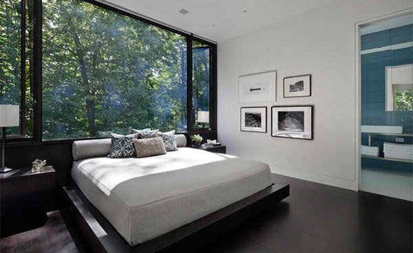 modern dark wood floors new canaan residence BYFJDCO