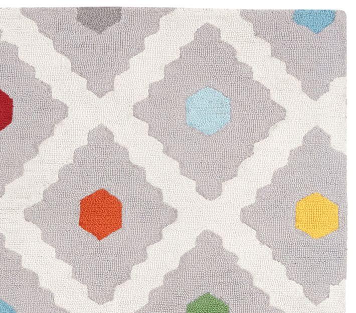 modern kid rugs multi dot rug | pottery barn kids HSFEZAF