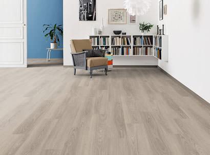 modern laminate flooring haro laminate floor tritty 100 plank 1-strip oak light grey* authentic EKUELIU