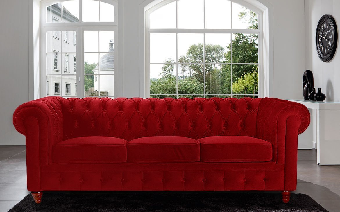 modern red couch amazon.com: divano roma furniture velvet scroll arm tufted button  chesterfield style sofa, RHZSYPD