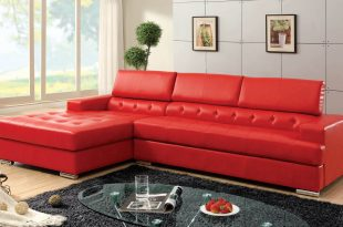modern red couch hokku designs red leather sectional with partially tufted upholstery RDXEJPC