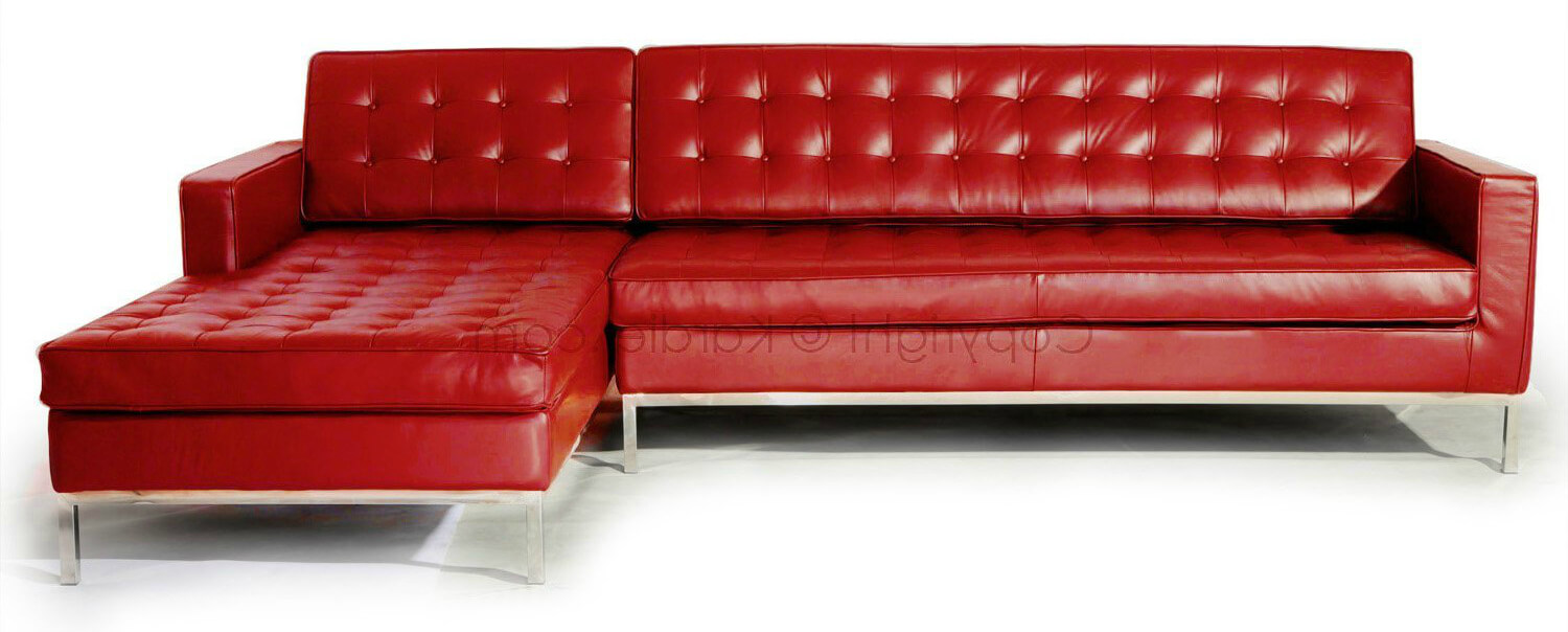 modern red couch kardiel modern red leather sectional sofa EIIMQOA