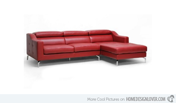 modern red couch lounge design OSLEPXG