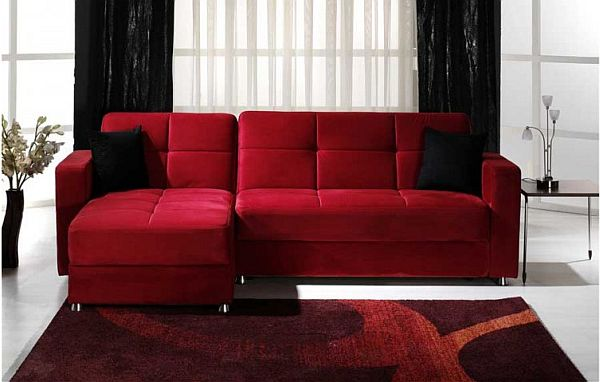 modern red couch modern sectional sofa by istikbal ZRQZBJF