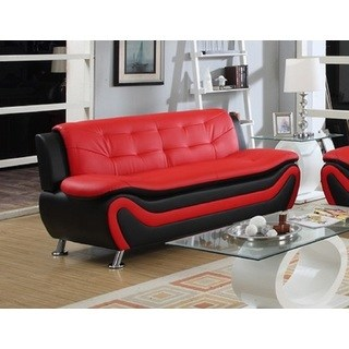 modern red couch roselia relaxing contemporary modern style sofa, black red EJZXKPK