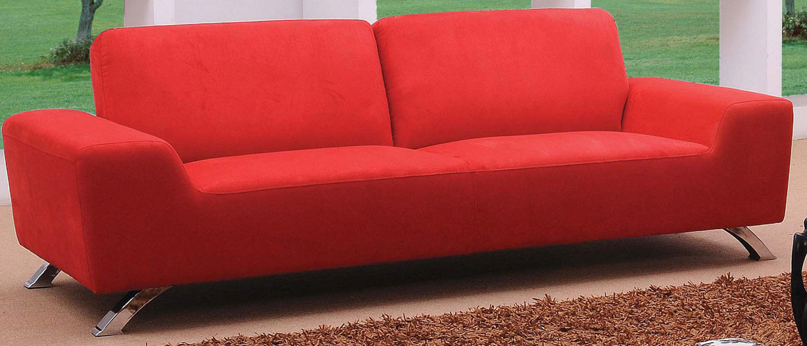 modern red couch sunset modern red sofa set ERXSUDP
