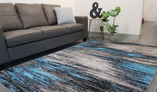 modern rugs style midnight storm blue grey WRDENQN