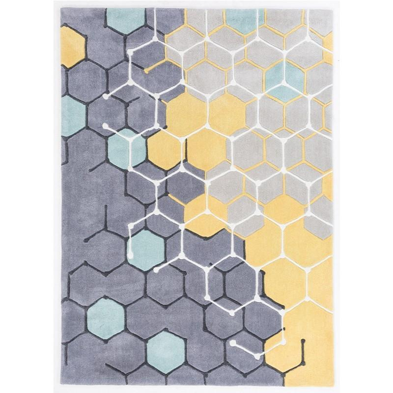 modern rugs yellow and grey modern rug FUBBDHH