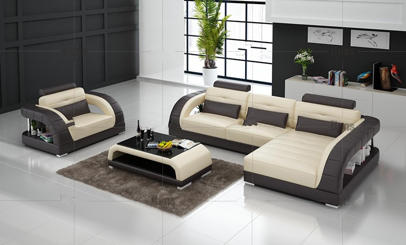 modern sectional leather sofa for living room sofa l shaped sofa design-in HFZSYFL