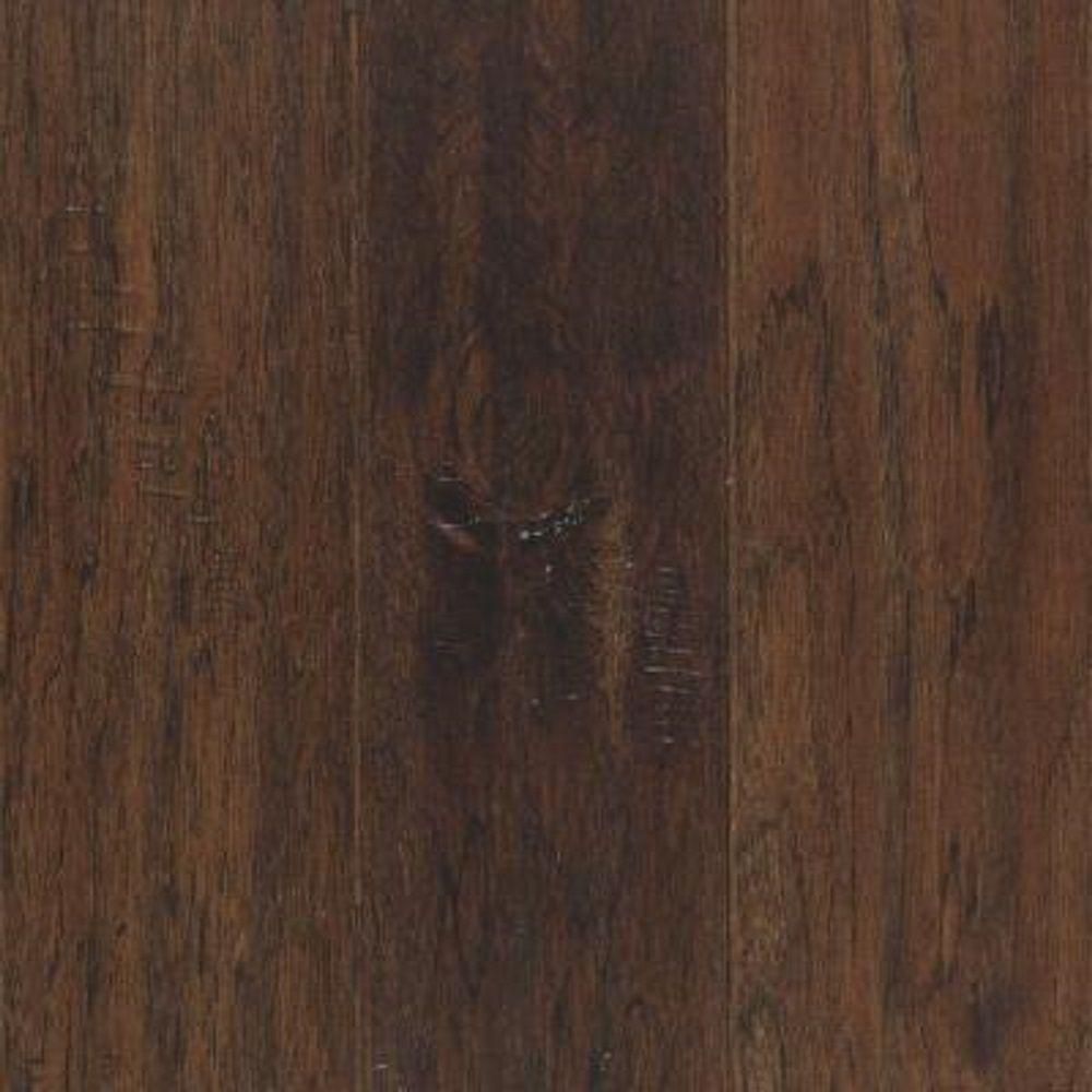 mohawk hardwood flooring mohawk take home sample - steadman mocha hickory engineered scraped hardwood  flooring TTHJUWT