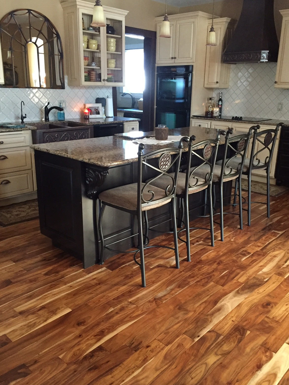 natural flooring ... acacia natural plank kitchen hardwood flooring ... FMOWCNI