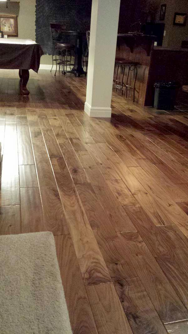 natural walnut floors installation in kansas home PKDZQIA