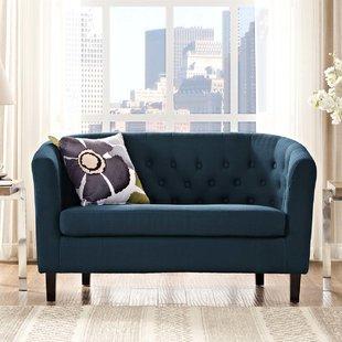 navy blue loveseat | wayfair.ca XEJTSMG