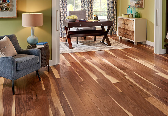 new hardwood floor ideas a walnut engineered wood floor in a living room. HTCDWCO