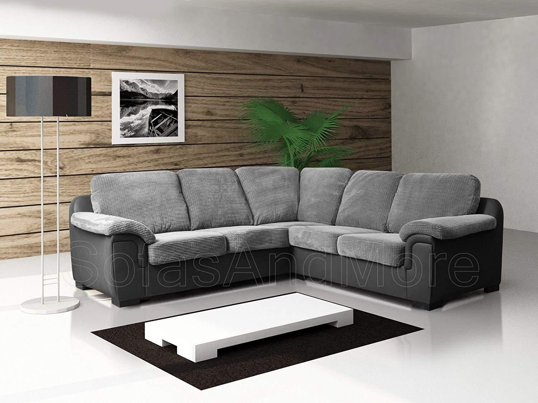 new sofas brand new - corner sofa - amy - grey - fabric: amazon.co.uk: kitchen CTYAILF