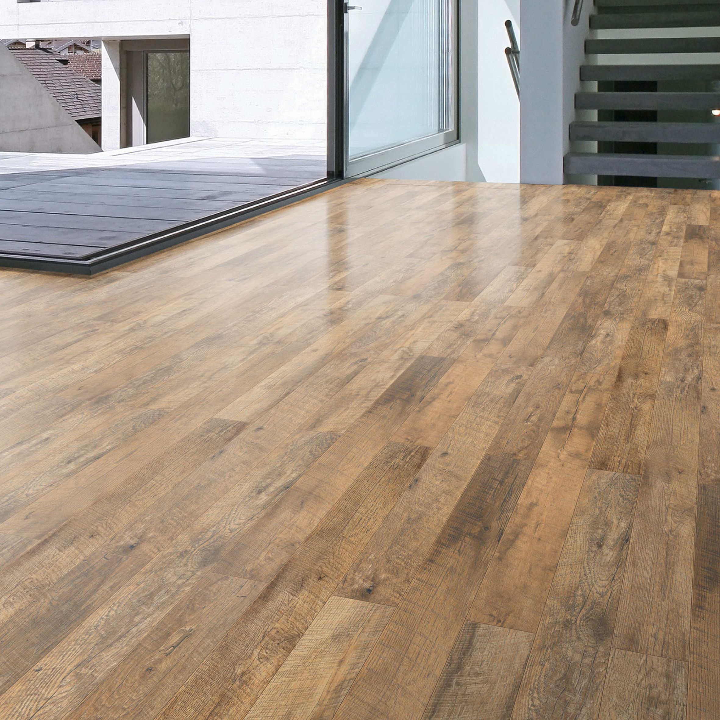 Oak laminate flooring guarcino reclaimed oak effect laminate flooring 1.64 m² pack | departments  | XBJSSVA