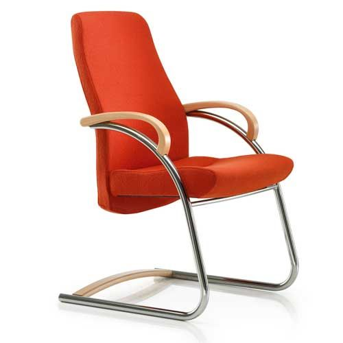 office chairs without wheels zante visitor fabric cantilever chair with wooden arms. find this pin and FONCYQJ