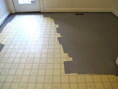 painting linoleum floor with grey MAGWPGH