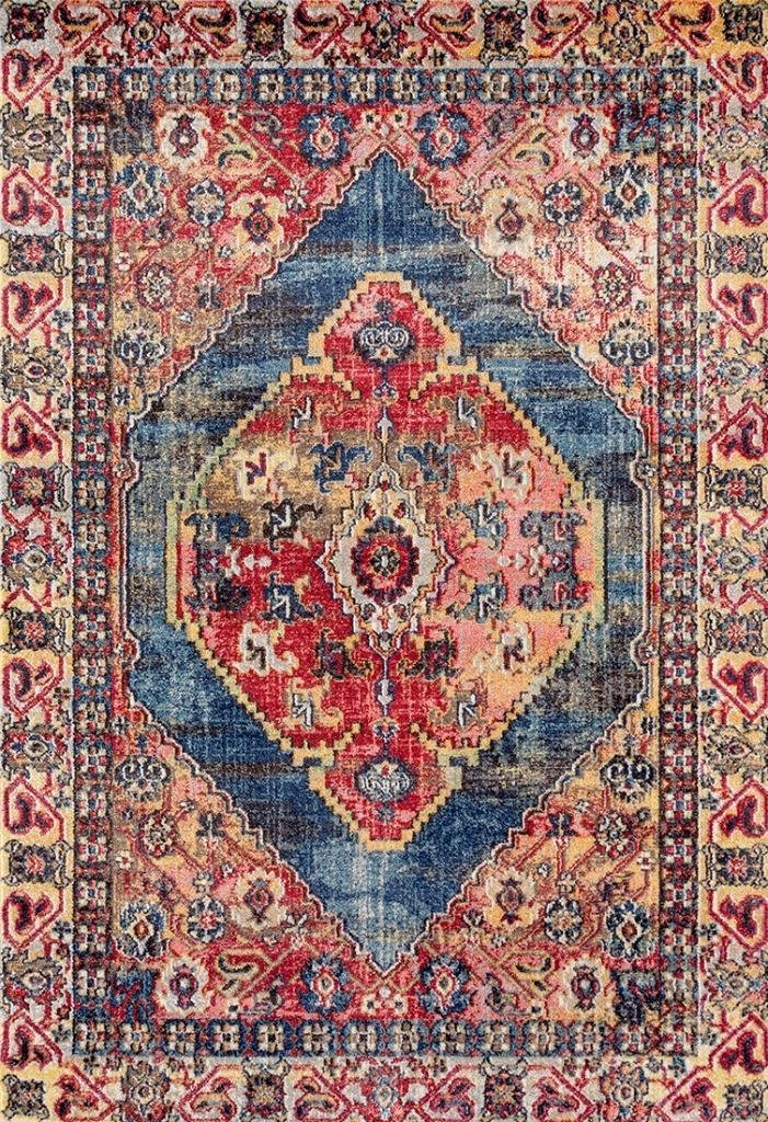 Persian area rugs 2065 multi-color colorful distressed persian area rugs XXXGZMD
