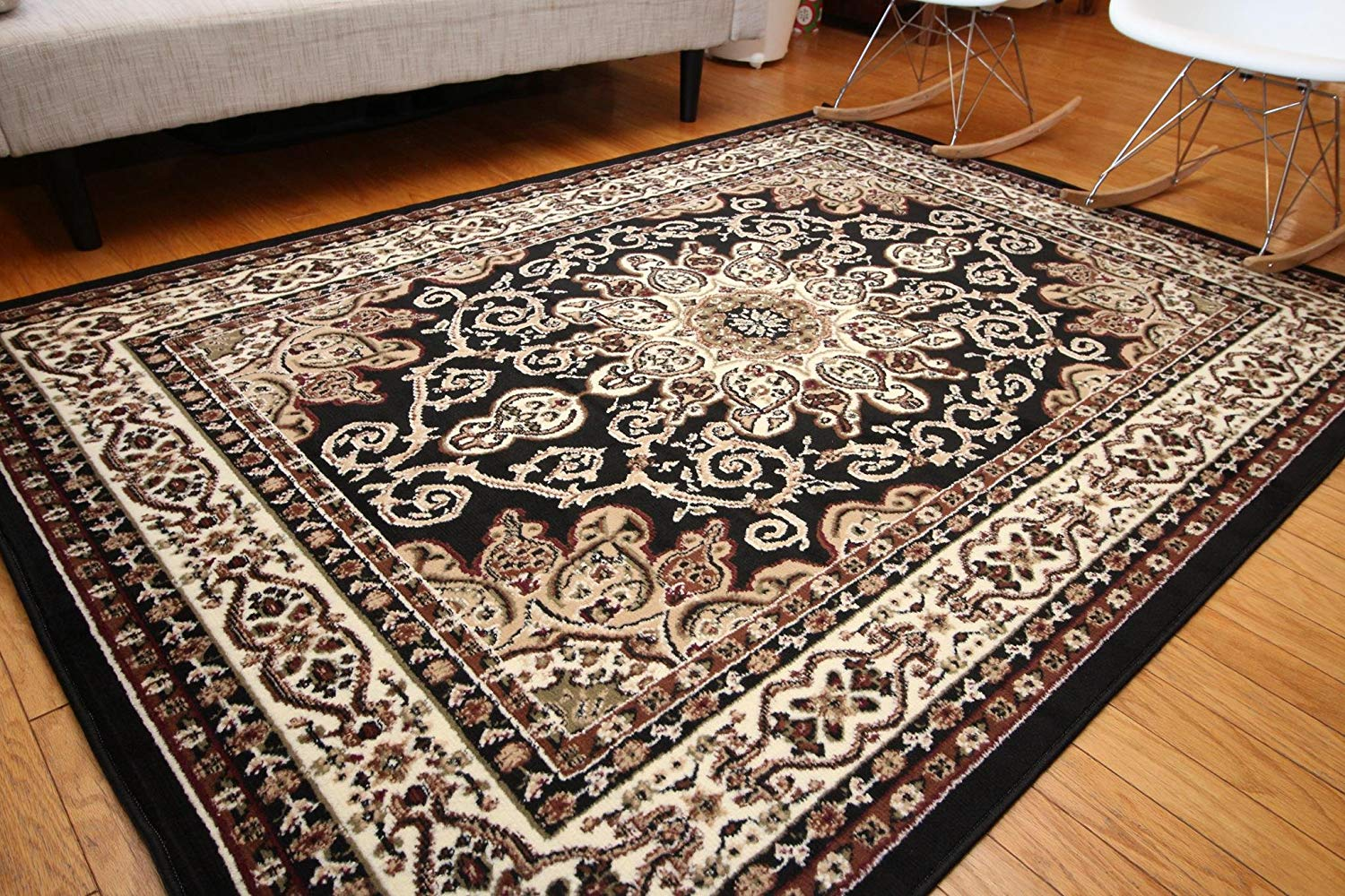 Persian area rugs amazon.com: generations new oriental traditional isfahan persian area rug,  2u0027 x 3u0027, SILROVU