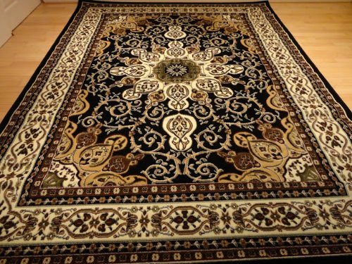 Persian area rugs black persian style 5×8 oriental area rug 5×7 carpet tabriz design rugs ATUAEPP