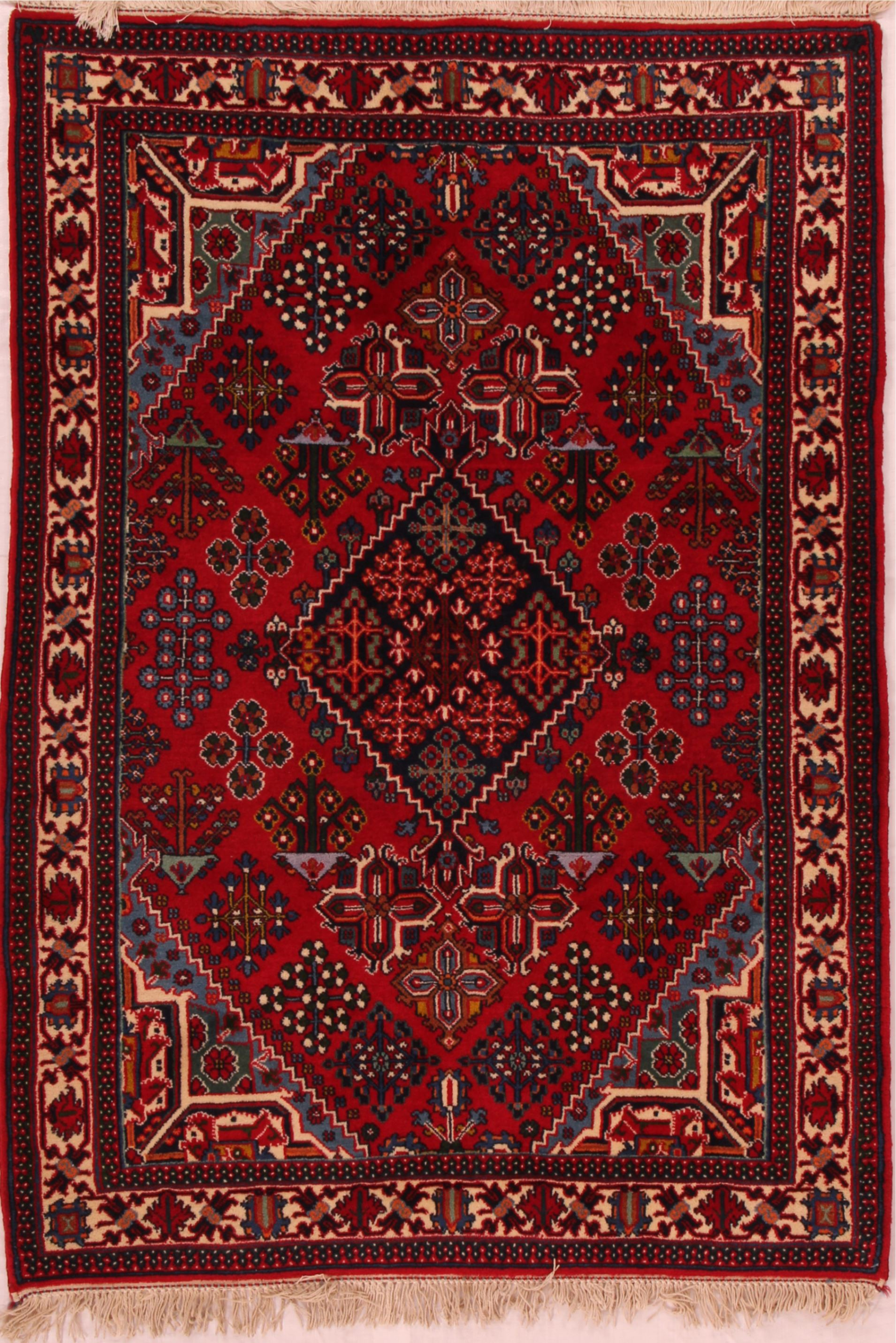 Persian area rugs persian joshaghan red rectangle 3x5 ft wool carpet 16458 HAVIDUY