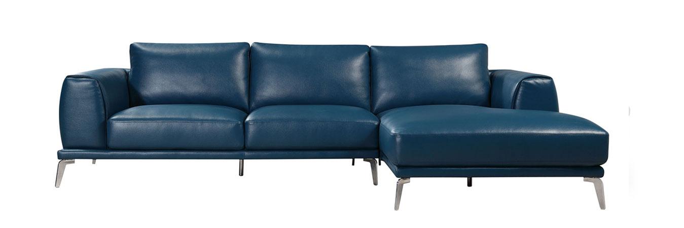 phoenix modern blue bonded leather sectional sofa MIOZIYS