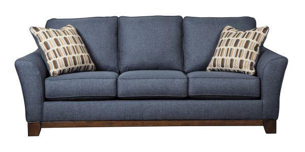 picture of janley - denim sofa ... ZPJDVCK