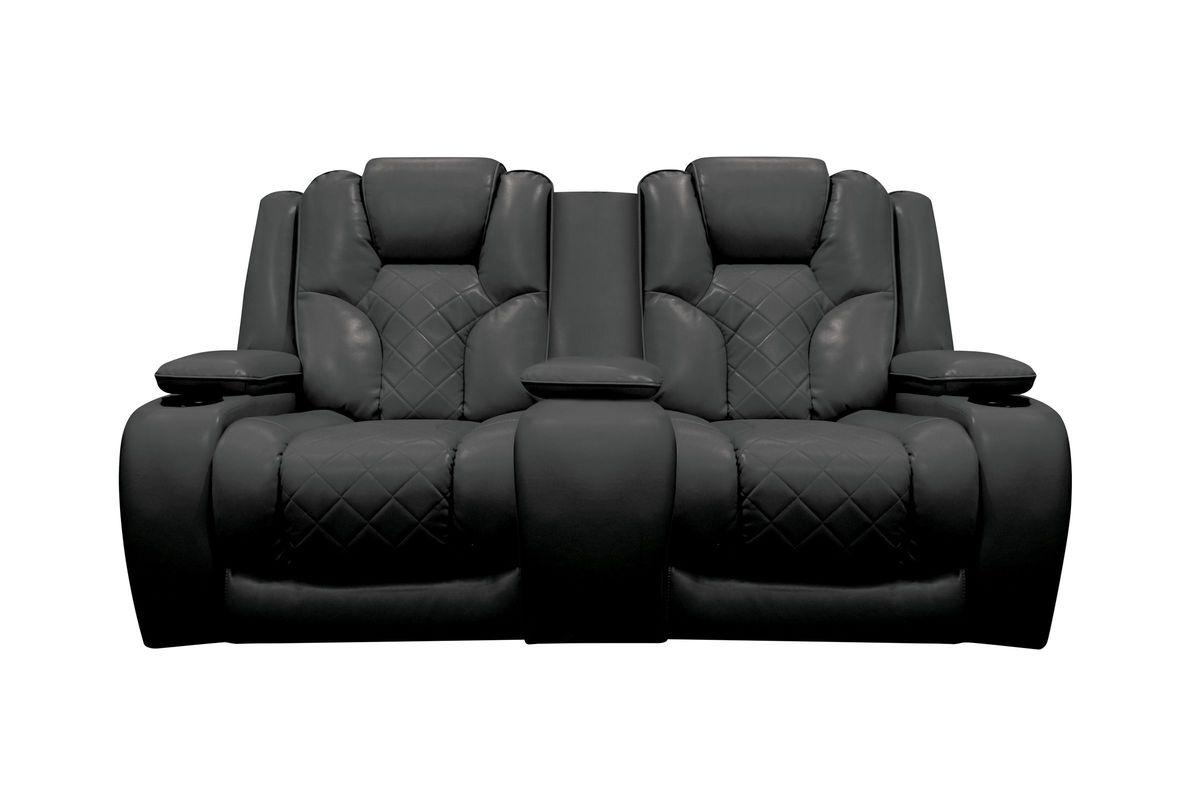 power loveseat bastille power reclining loveseat with console from gardner-white furniture IVZTKZR