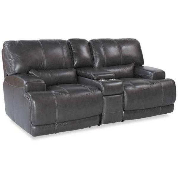 power loveseat gear charcoal leather power reclining loveseat UIVZPNC