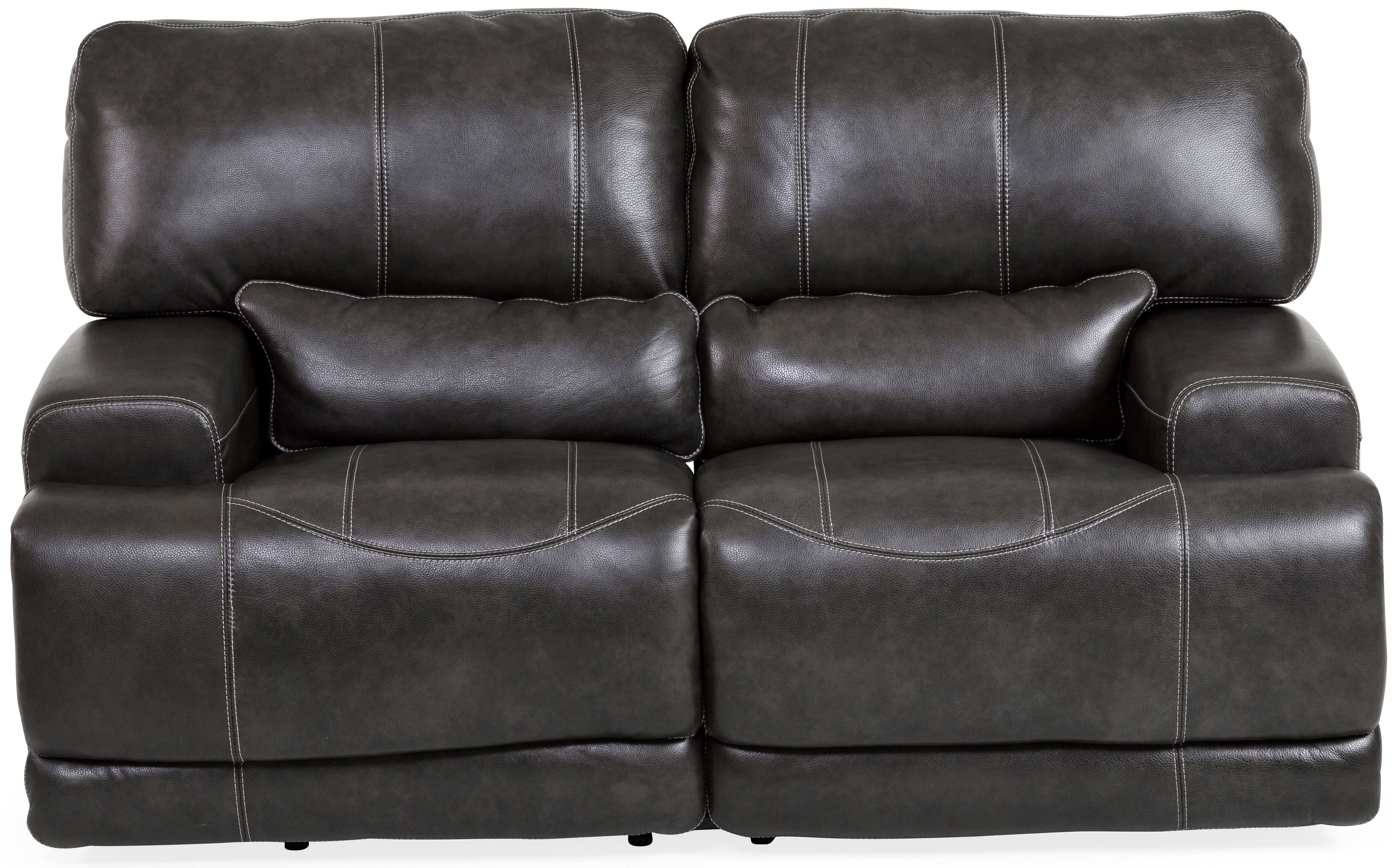 power loveseat stampede leather power reclining loveseat - charcoal st:422615 JUGBMJH