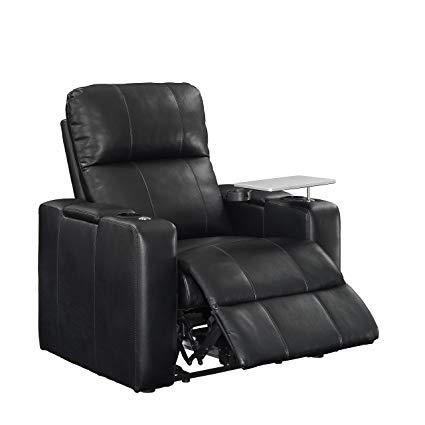 powered recliners pulaski power home theatre recliner, usb port, tray, blanche black KSFFCJT