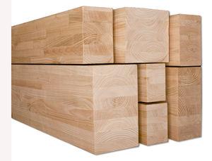 prefab beam / iroko / chestnut / solid wood LOFJRJD