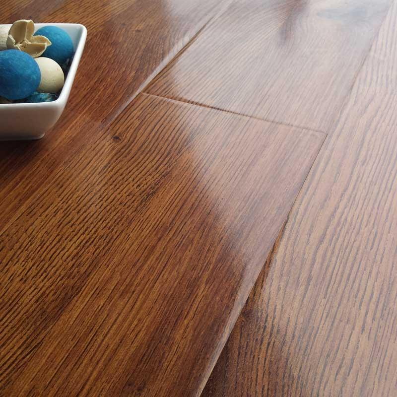 prestige gloss royal oak 8mm v-groove laminate flooring KYIBTNE